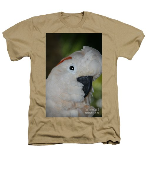 Salmon Crested Cockatoo Heathers T-Shirt by Sharon Mau