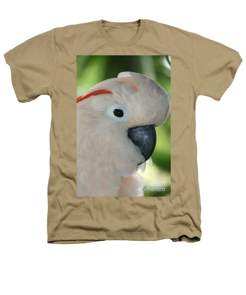 Salmon Crested Moluccan Cockatoo Heathers T-Shirt by Sharon Mau