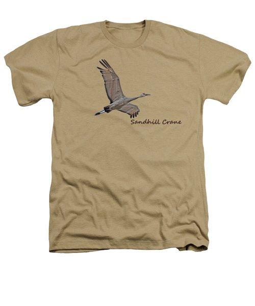Sandhill Crane In Flight Heathers T-Shirt