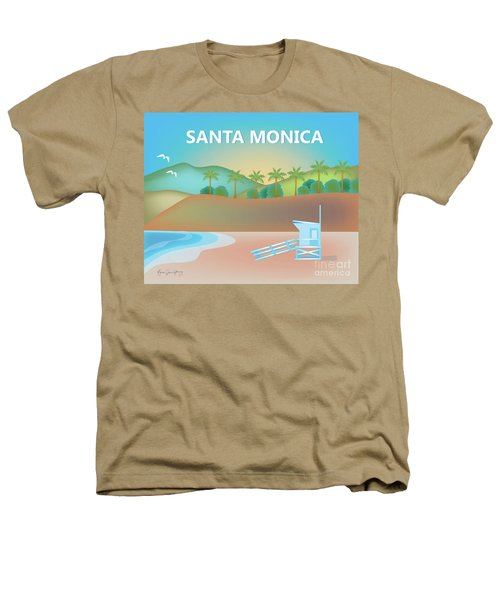 Santa Monica California Horizontal Scene Heathers T-Shirt