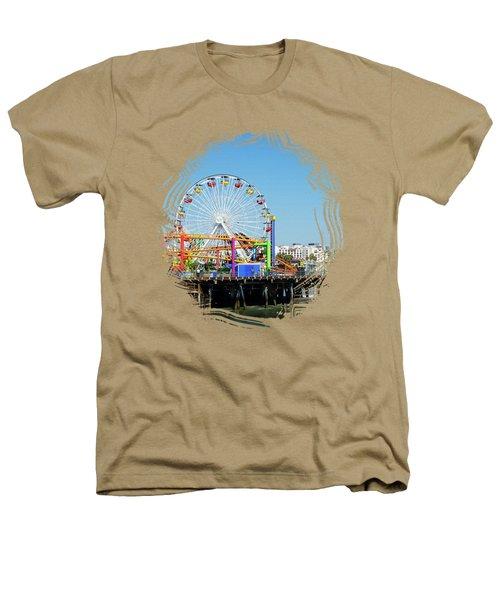 Santa Monica Ferris Wheel Heathers T-Shirt by Stefanie Juliette