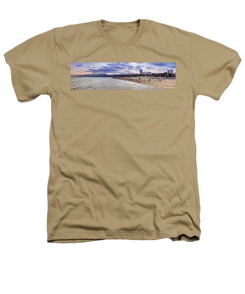 Santa Monica Sunset Panorama Heathers T-Shirt