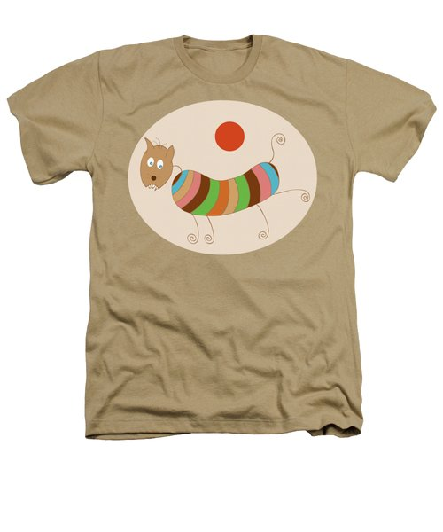 Sausage Dog In Ketchup Sunset Heathers T-Shirt