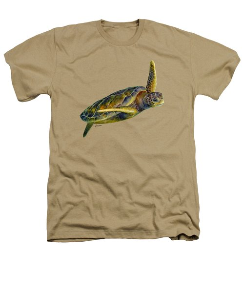 Sea Turtle 2 Heathers T-Shirt by Hailey E Herrera