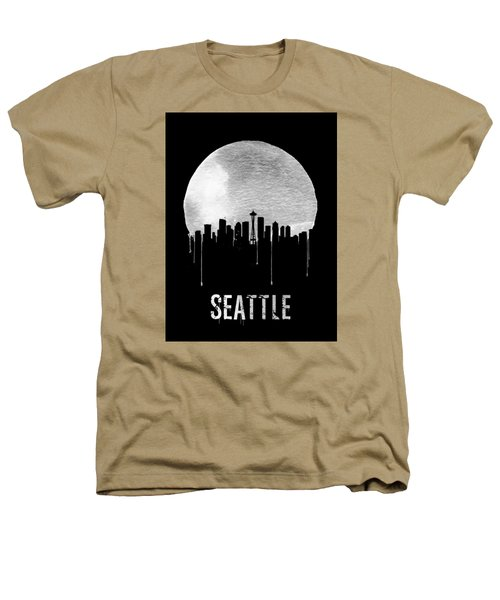 Seattle Skyline Black Heathers T-Shirt by Naxart Studio