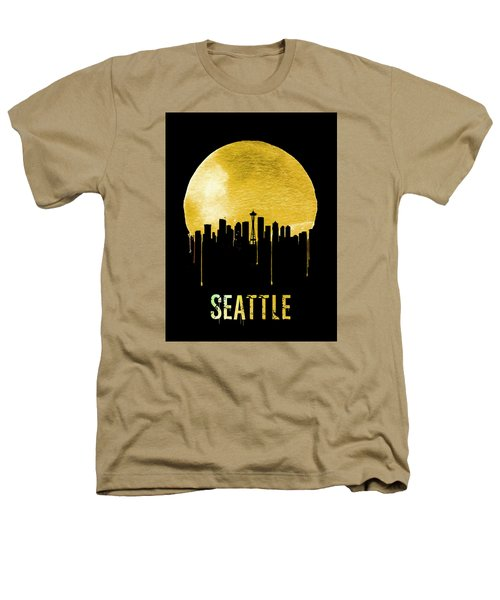 Seattle Skyline Yellow Heathers T-Shirt by Naxart Studio