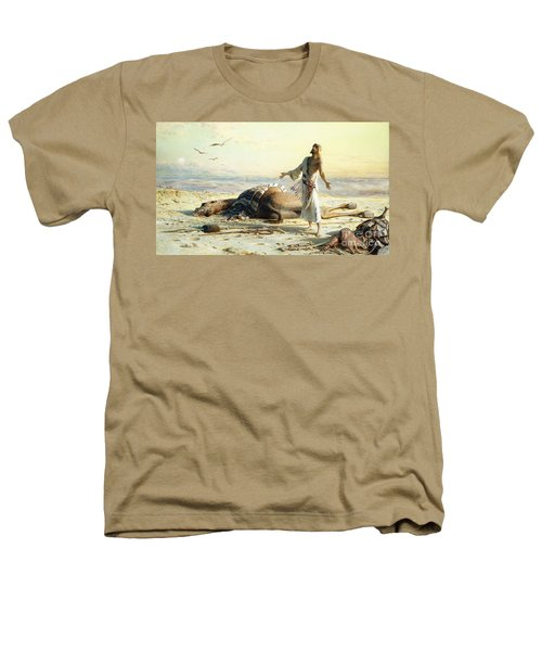 Shipwreck In The Desert Heathers T-Shirt by Carl Haag