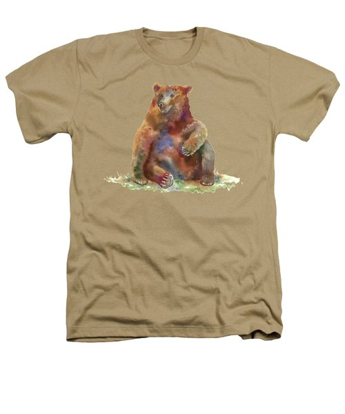 Sitting Bear Heathers T-Shirt by Amy Kirkpatrick