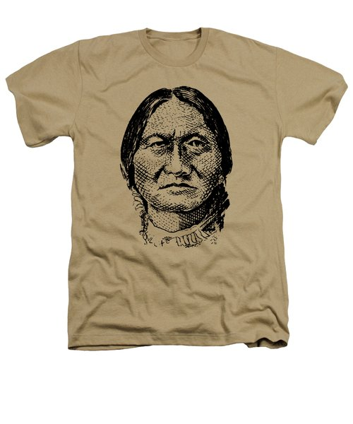 Sitting Bull Graphic Heathers T-Shirt by War Is Hell Store