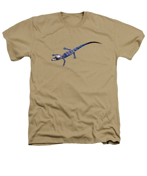 Slightly Waving A Tail. Alligator Baby Heathers T-Shirt by Zina Stromberg