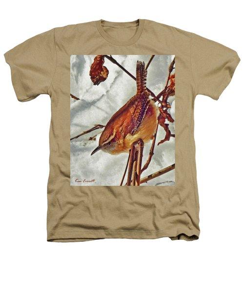 Slim Pickens, Carolina Wren Heathers T-Shirt by Ken Everett