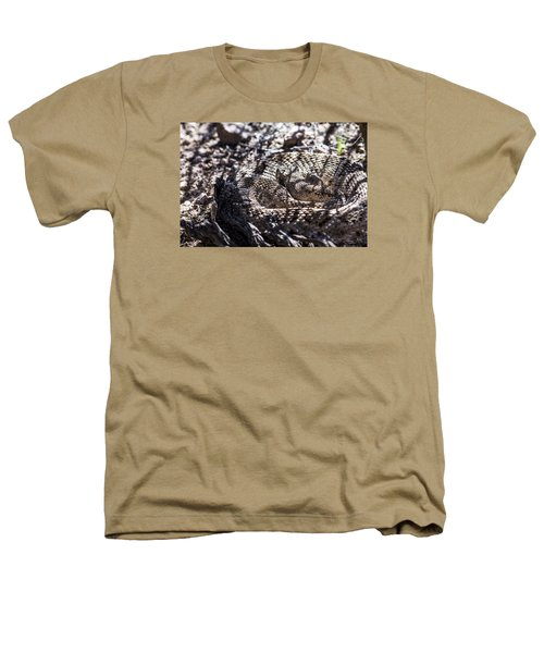 Snake In The Shadows Heathers T-Shirt by Chuck Brown