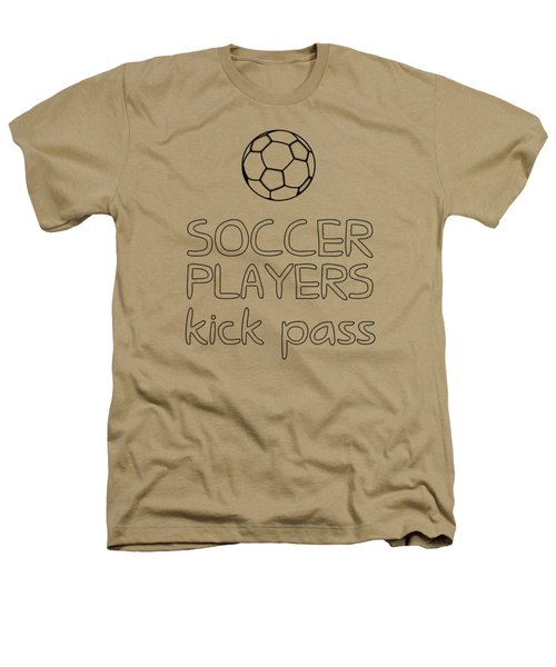Soccer Players Kick Pass Poster Heathers T-Shirt by Liesl Marelli