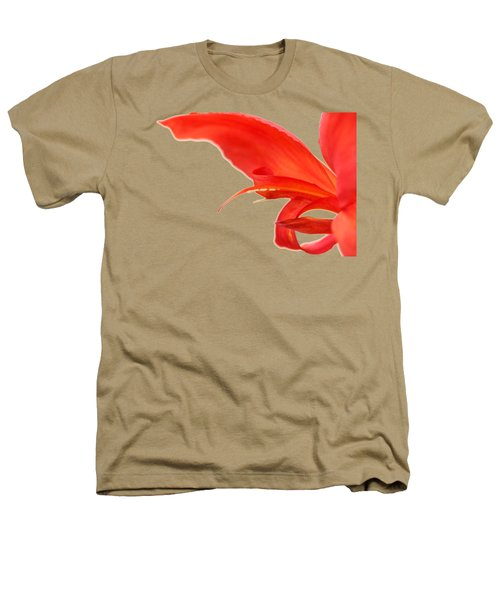 Softly Red Canna Lily Heathers T-Shirt
