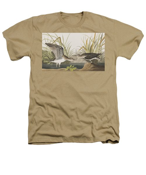 Solitary Sandpiper Heathers T-Shirt by John James Audubon