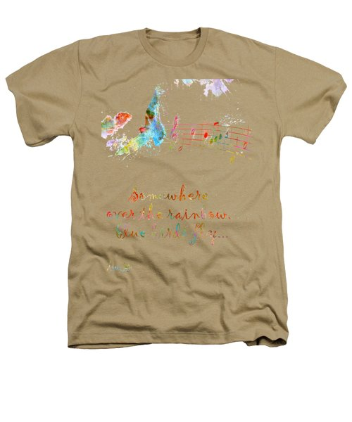 Somewhere Over The Rainbow Heathers T-Shirt by Nikki Smith