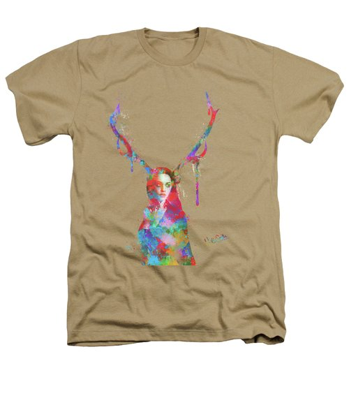 Song Of Elen Of The Ways Antlered Goddess Heathers T-Shirt by Nikki Marie Smith