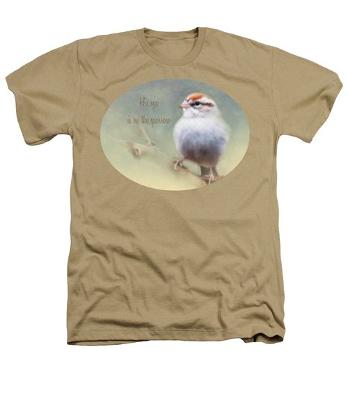 Serendipitous Sparrow - Phrase Heathers T-Shirt by Anita Faye