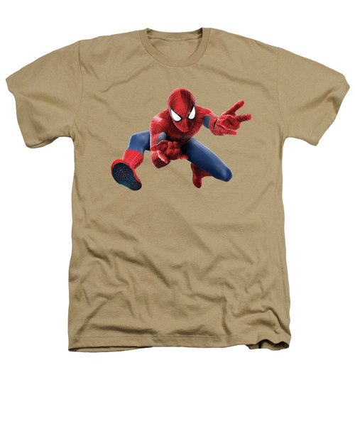 Spider Man Splash Super Hero Series Heathers T-Shirt by Movie Poster Prints