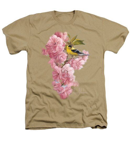 Spring Blossoms Heathers T-Shirt by Lucie Bilodeau