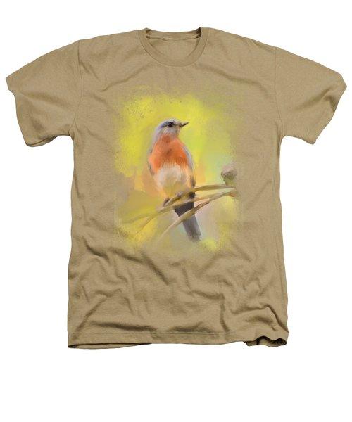 Spring Bluebird Painting Heathers T-Shirt by Jai Johnson
