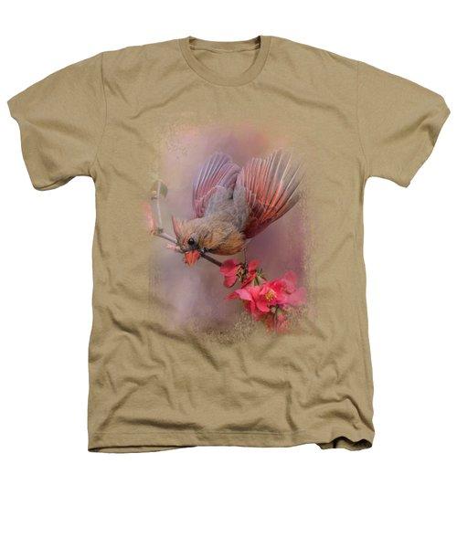 Spring Cardinal 2 Heathers T-Shirt by Jai Johnson