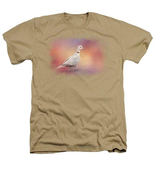 Spring Eurasian Collared Dove Heathers T-Shirt by Jai Johnson