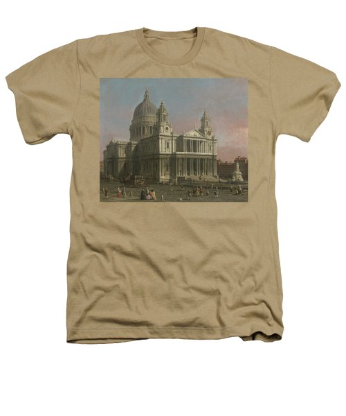 St. Paul's Cathedral Heathers T-Shirt by Giovanni Antonio Canaletto