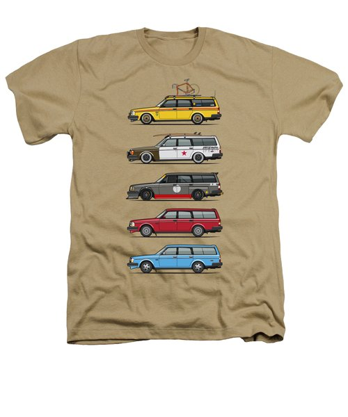 Stack Of Volvo 200 Series 245 Wagons Heathers T-Shirt by Monkey Crisis On Mars