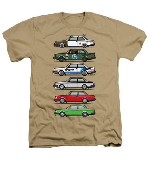 Stack Of Volvo 242 240 Series Brick Coupes Heathers T-Shirt by Monkey Crisis On Mars