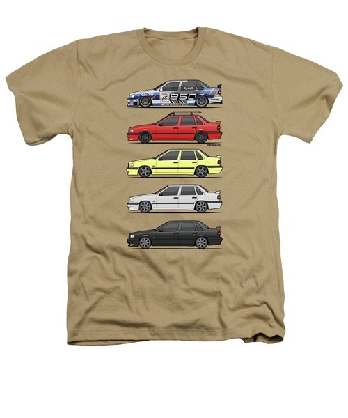 Stack Of Volvo 850r 854r T5 Turbo Saloon Sedans Heathers T-Shirt by Monkey Crisis On Mars