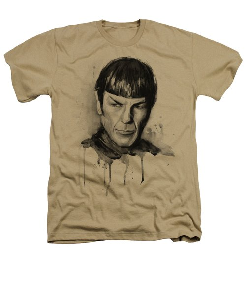 Star Trek Spock Portrait Sci-fi Art Heathers T-Shirt by Olga Shvartsur