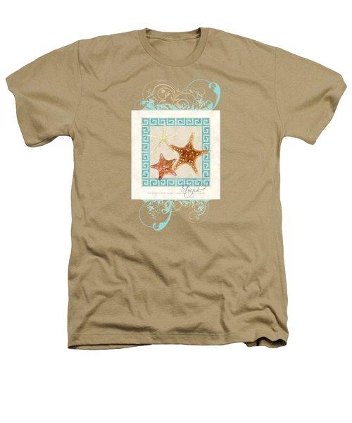 Starfish Greek Key Pattern W Swirls Heathers T-Shirt