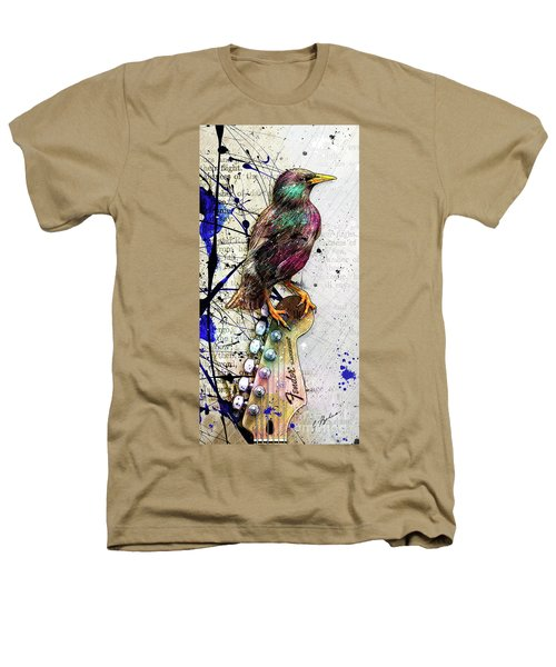 Starling On A Strat Heathers T-Shirt