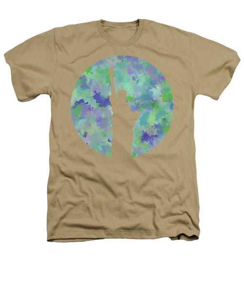 Statue Of Liberty Silhouette Heathers T-Shirt