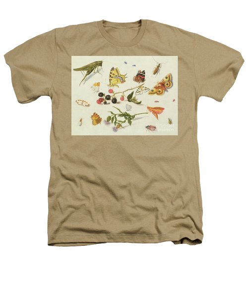 Study Of Insects, Flowers And Fruits, 17th Century Heathers T-Shirt