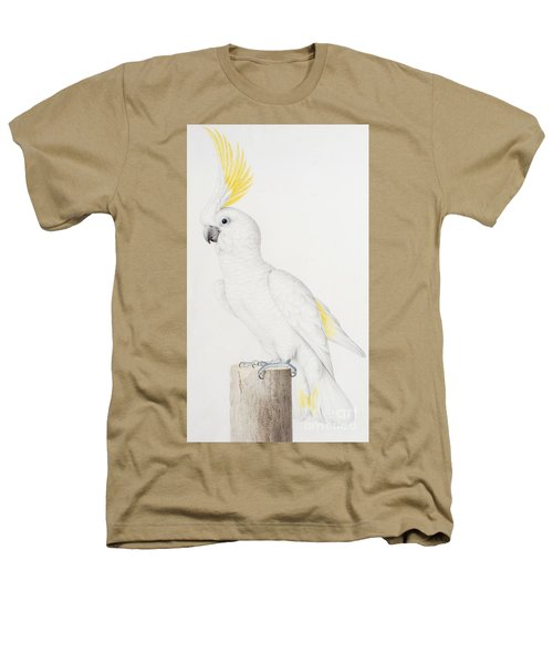 Sulphur Crested Cockatoo Heathers T-Shirt by Nicolas Robert