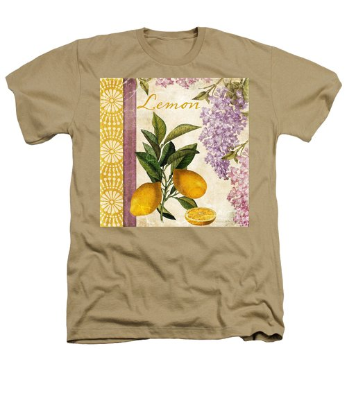 Summer Citrus Lemon Heathers T-Shirt by Mindy Sommers