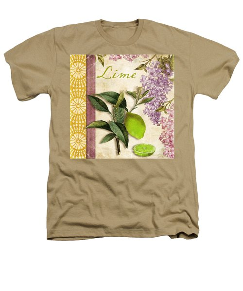 Summer Citrus Lime Heathers T-Shirt by Mindy Sommers