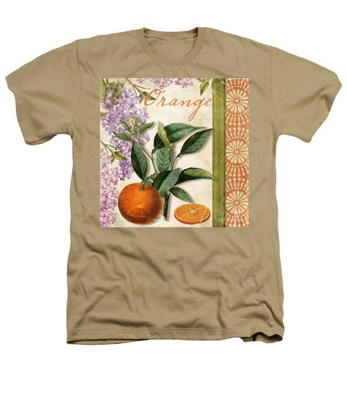 Summer Citrus Orange Heathers T-Shirt by Mindy Sommers