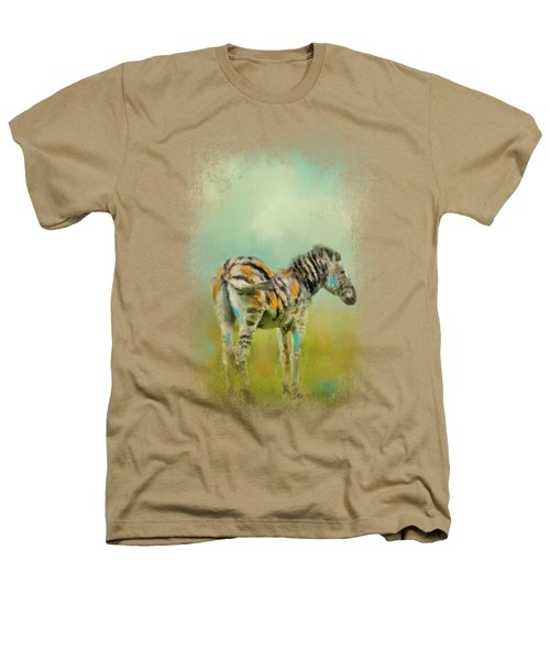 Summer Zebra 1 Heathers T-Shirt by Jai Johnson