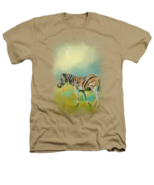 Summer Zebra 2 Heathers T-Shirt by Jai Johnson
