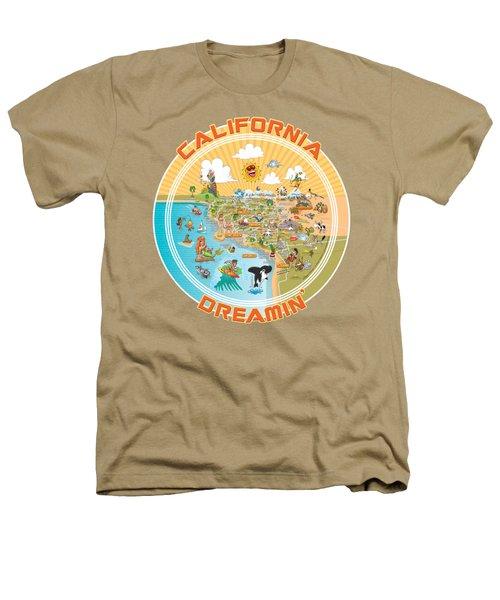 Ultimate Sunny California Beach Paradise Heathers T-Shirt