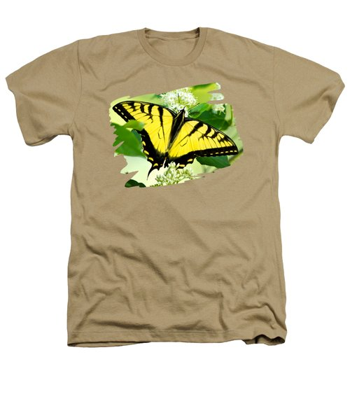 Swallowtail Butterfly Feeding On Flowers Heathers T-Shirt by Christina Rollo