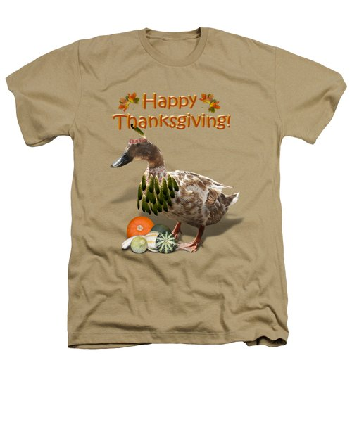 Thanksgiving Indian Duck Heathers T-Shirt by Gravityx9 Designs