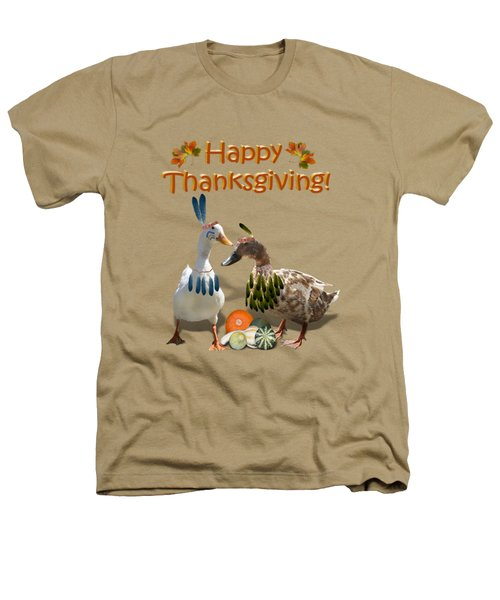 Thanksgiving Indian Ducks Heathers T-Shirt by Gravityx9  Designs