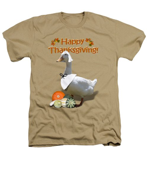 Thanksgiving Pilgrim Duck Heathers T-Shirt