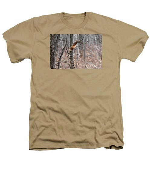 The American Woodcock In-flight Heathers T-Shirt