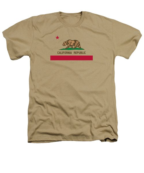 The Bear Flag - State Of California Heathers T-Shirt by War Is Hell Store