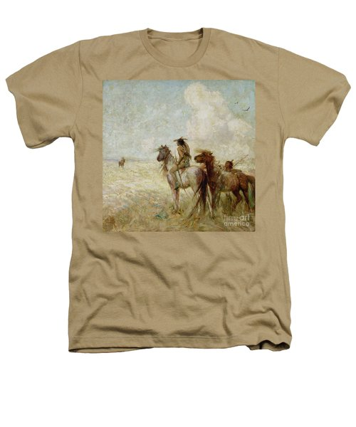 The Bison Hunters Heathers T-Shirt by Nathaniel Hughes John Baird